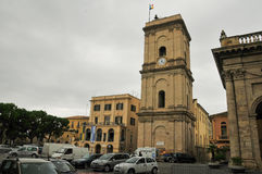 Lanciano cityview. This is a view of italian city called Lanciano, where according to the Catholic Church in the eighth century saw the first confirmed royalty free stock images