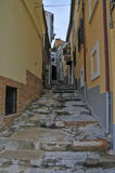 Lanciano cityview. This is a view of italian city called Lanciano, where according to the Catholic Church in the eighth century saw the first confirmed stock photo