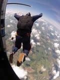 Lanciar in caduta liberasi l'uscita dello studente dall'aereo Fotografia Stock Libera da Diritti