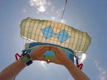 Lanciar in caduta liberasi paracadute Fotografia Stock