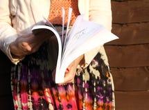 Lanciare del libro Fotografia Stock