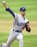 Lanciatore Chan Ho Park di Los Angeles Dodgers immagine stock