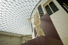 Lanciatore di Discobol in British Museum Immagini Stock