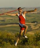 lanciatore di javelin Immagine Stock