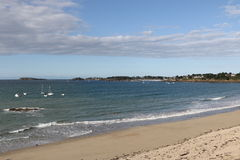Lancieux. The beach of Lancieux, France royalty free stock photography