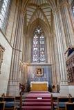 Lancing kapell, Lancing högskola, västra Sussex, England, det stort Arkivbild