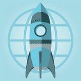 Lancio CI di Rocket Space Ship di simbolo Immagini Stock