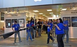 Lancio del Apple Ipad Fotografia Stock Libera da Diritti