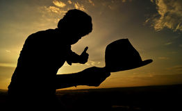 Lancio del mio cappello Fotografie Stock Libere da Diritti