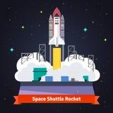 Lancio del razzo della navetta spaziale dallo spazioporto Immagini Stock
