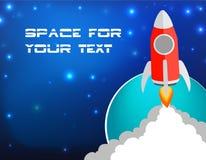 Lancio del razzo di affari dell'illustrazione di vettore con lo spazio della copia illustrazione vettoriale