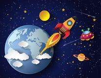 Lancio del razzo di spazio Immagini Stock Libere da Diritti