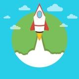 Lancio del razzo di spazio Fotografie Stock