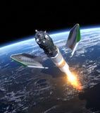 Lancio del veicolo spaziale del carico Fotografie Stock Libere da Diritti