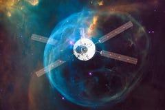 Lancio del veicolo spaziale in spazio Bellezza di spazio cosmico royalty illustrazione gratis