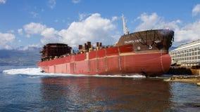 Lancio della nave Fotografia Stock