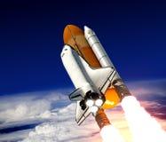 Lancio della navetta spaziale Fotografia Stock