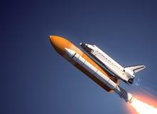 Lancio della navetta spaziale Fotografie Stock Libere da Diritti