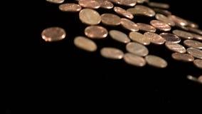 Lancio della parete del penny archivi video