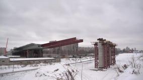 Lancio della sezione del ponte archivi video