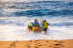 Lancio della spiaggia Fotografia Stock