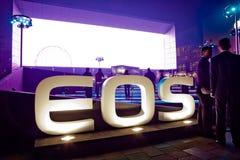 Lancio di nuovo prodotto della macchina fotografica di EOS di Canon Fotografia Stock Libera da Diritti