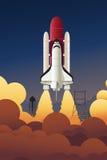 Lancio di Rocket nello spazio Fotografia Stock Libera da Diritti
