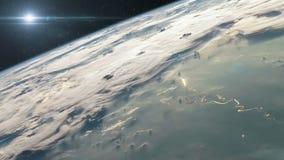 Lancio di Rocket nello spazio stock footage