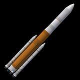 Lancio Rocket del carico Fotografie Stock