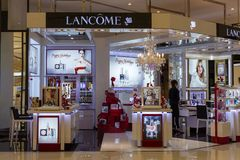 Lancome shop in Siam Paragon Mall, Bangkok, Thailand Stock Photos