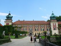 Lancut-Palast Lizenzfreies Stockbild