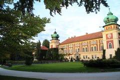 Lancut Polen - Oktober 06, 2013: Historisk Lancut slott royaltyfria foton