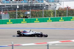 Lancy przespacerowanie Williams Martini Ścigać się Formuła Jeden Sochi Rosja zdjęcie stock