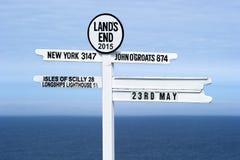 Land's末端路标 图库摄影