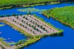 landåtervinning Fotografering för Bildbyråer