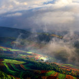 Land. There are red land in yunan Stock Photos