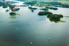 Land from above. Lake from a birds eye Royalty Free Stock Photos