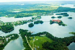 Land from above. Lake from a birds eye Royalty Free Stock Photo