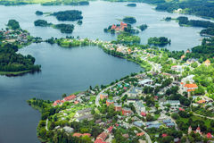 Land from above. Lake from a birds eye Royalty Free Stock Image