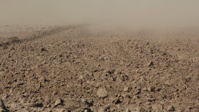 Land affected by drought stock footage