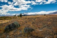 Land Alongside Lake Tekapo Royalty Free Stock Images