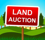 Land Auction Represents Building Plot And Auctioning. Land Auction Indicating Building Plot And Bidding Royalty Free Stock Photo