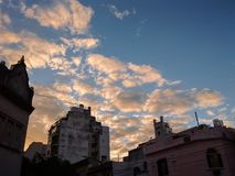 Land av solnedgångar royaltyfria bilder