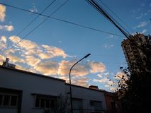 Land av solnedgångar arkivfoton