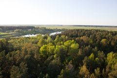 Land from a birds eye. Aerial view of a land Stock Images