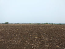 Land with black soil. Asian land with black soil Royalty Free Stock Images