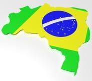 Land Brasilien stock abbildung