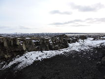 Land bridge between tectonic plates. Iceland. Stock Images