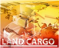 Land cargo Abstract concept digital illustration Royalty Free Stock Photo