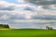 Land and clouds. Stock Photography